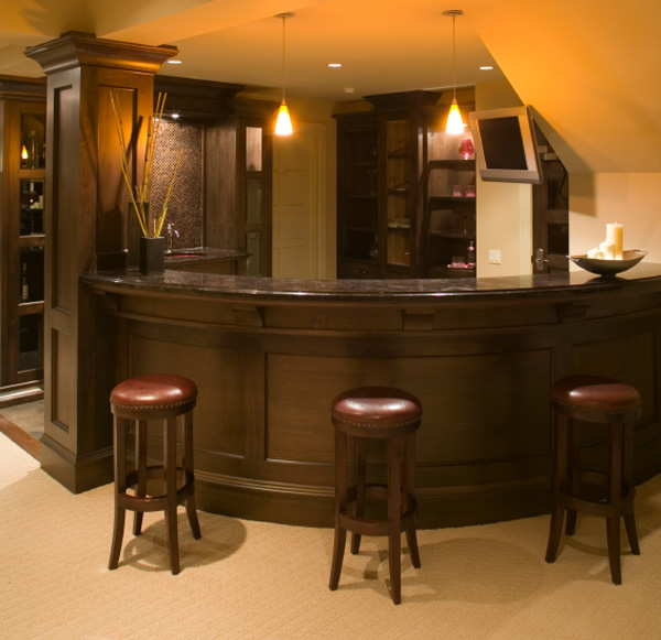 Wet Bar Ideas Gallery: Basement Design Gallery 1